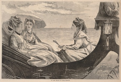 On the Beach at Long Branch, from Harper's Bazar, September 3, 1870