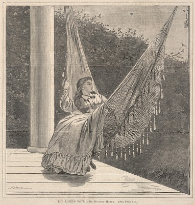 The Robin's Note, from Every Saturday, An Illustrated Journal of Choice Reading, August 20, 1870