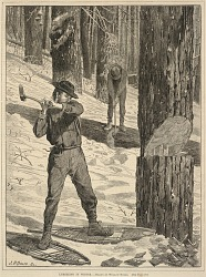 Lumbering in Winter, from Every Saturday: A Journal of Choice Reading, January 28, 1871