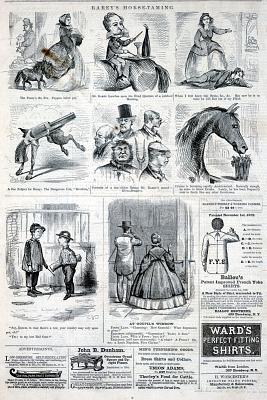 Rarey's Horse-Taming, from Harper's Weekly, January 19, 1861