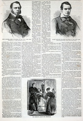 The Meeting After the Marriage, from Harper's Weekly, February 25, 1860