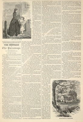 The Lady in Black, Meadowbrook Parsonage, from Harper's Weekly, March 17, 1860