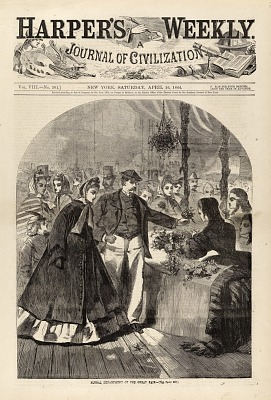 Floral Department of the Great Fair, from Harper's Weekly, April 16, 1864