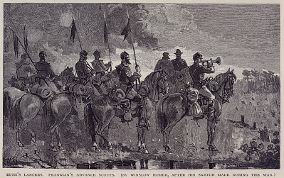 Rush's Lancers. Franklin's Advance Scouts, from The Century Magazine, May 1886