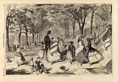 The Boston Common, from Harper's Weekly, May 22, 1858