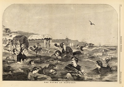 The Bathe [sic] at Newport, from Harper's Weekly, September 4, 1858