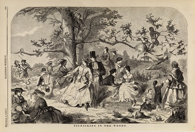 Picnicking in the Woods, from Harper's Weekly, September 4, 1858
