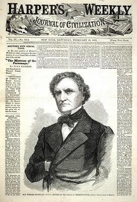 Hon. William Pennington of N.J., Speaker of the House of Representatives, from Harper's Weekly, February 11, 1860