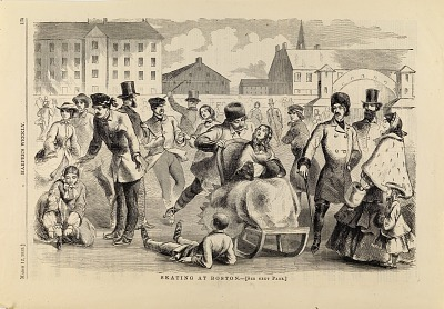 Skating at Boston, from Harper's Weekly, March 13, 1859