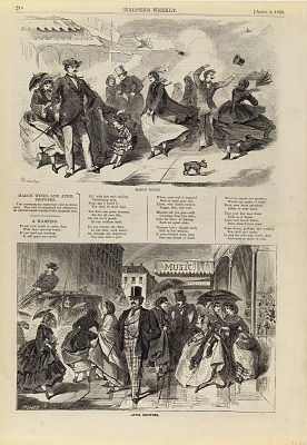 March Winds/April Showers, from Harper's Weekly, April 2, 1859