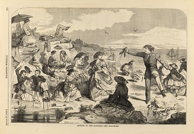 August in the Country--The Sea-Shore, from Harper's Weekly, August 27, 1859