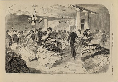 A Cadet Hop at West Point, from Harper's Weekly, September 3, 1859