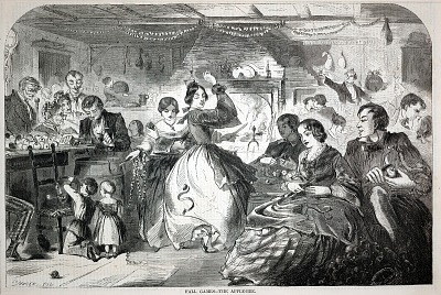Fall Games--The Apple-Bee, from Harper's Weekly, November 26, 1859