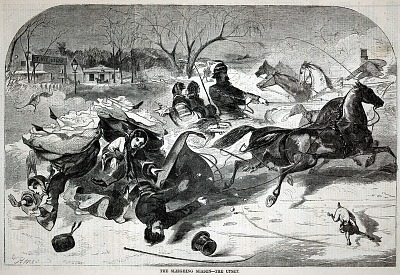 The Sleighing Season--The Upset, from Harper's Weekly, January 14, 1860