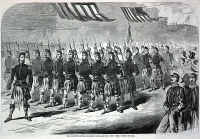 The Seventy-Ninth Regiment (Highlanders) New York State Militia, from Harper's Weekly, May 25, 1861