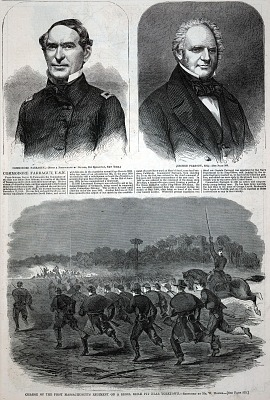 Charge of the First Massachusetts Regiment on a Rebel Rifle Pit Near Yorktown, from Harper's Weekly, May 17, 1862