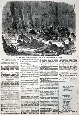 The Army of the Potomac--Our Outlying Picket in the Woods, from Harper's Weekly, June 7, 1862