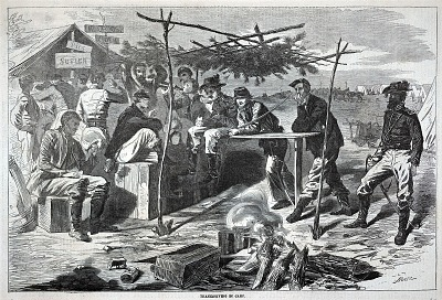 Thanksgiving in Camp, from Harper's Weekly, November 29, 1862