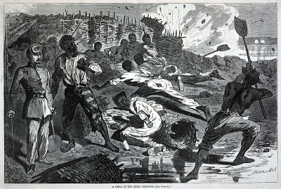A Shell in the Rebel Trenches, from Harper's Weekly, January 17, 1863