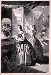 """Anything for me, if you please?""--Post-office of the Brooklyn Fair, from Harper's Weekly, March 5, 1864"