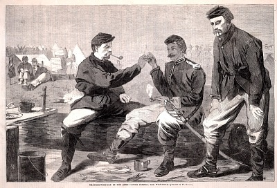 Thanksgiving Day in the Army--After Dinner: The Wish-bone, from Harper's Weekly, December 3, 1864