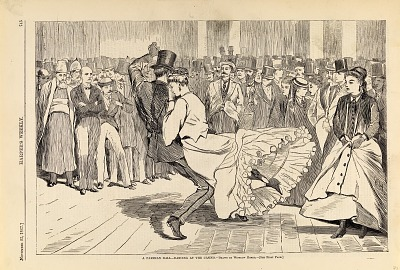 A Parisian Ball--Dancing at the Casino, from Harper's Weekly, November 23, 1867