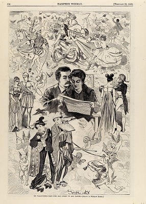 St. Valentine's Day--The Old Story in All Lands, from Harper's Weekly, February 22, 1868