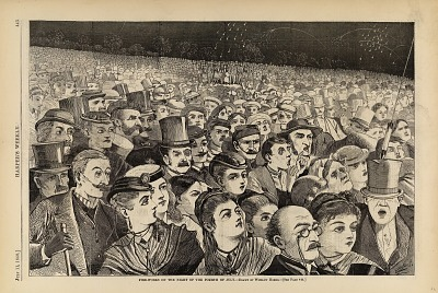 Fire-Works on the Night of the Fourth of July, from Harper's Weekly, July 11, 1868