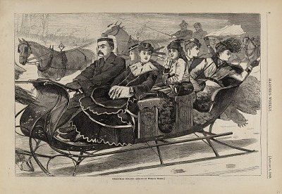 Christmas Belles, from Harper's Weekly, January 2, 1869