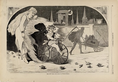The New Year--1869, from Harper's Weekly, January 9, 1869