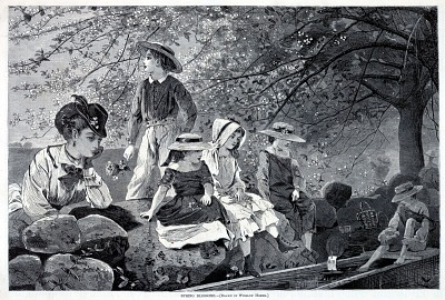 Spring Blossoms, from Harper's Weekly, May 21, 1870