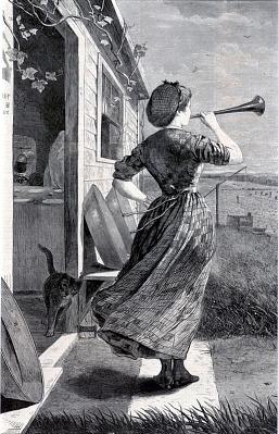 The Dinner Horn, from Harper's Weekly, June 11, 1870