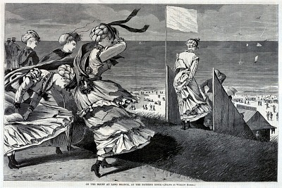 On the Bluff at Long Branch, at the Bathing Hour, from Harper's Weekly, August 6, 1870