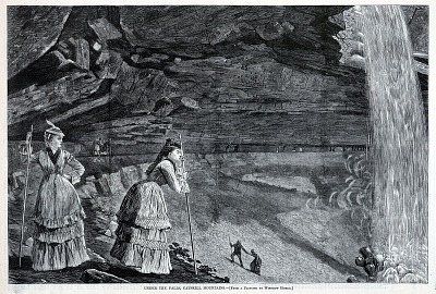 Under the Falls, Catskill Mountains, from Harper's Weekly, September 14, 1872