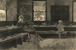 The Noon Recess, from Harper's Weekly, June 28, 1873
