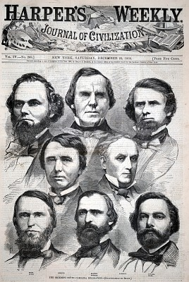 The Seceding South Carolina Delegation, from Harper's Weekly, December 22, 1860