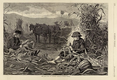The Last Days of Harvest, from Harper's Weekly, December 6, 1873