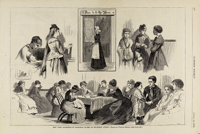 New York Charities--St. Barnabas House, from Harper's Weekly, April 18, 1874