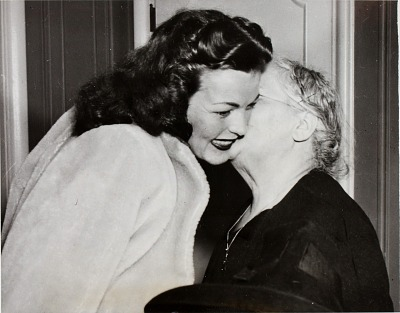 Sarah Rasofsky (right) with Catherine (Howlett) Ross, wife of Barney Ross
