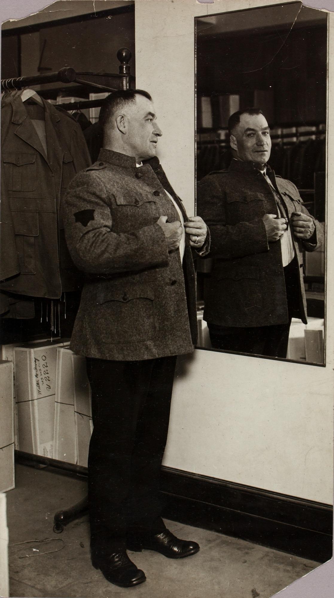 Tom Sharkey, full length portrait