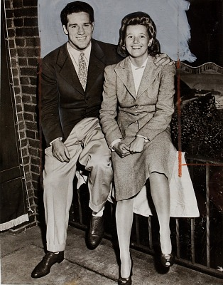 Boxer Billy Conn with fiancee Mary Louise Smith