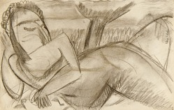 Reclining Nude--Abstract