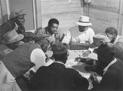 Gambling (skin game) in juke joint on Saturday night, near Moore Haven, Florida