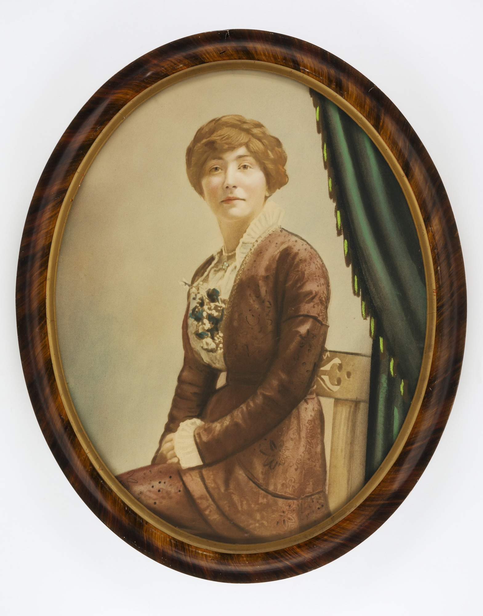 Woman in Brown Dress with