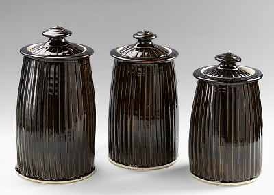 Three Piece Canister Set (Large Jar)