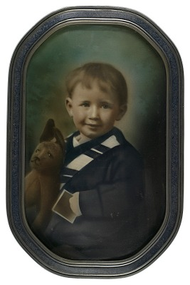 Boy with Stuffed Rabbit