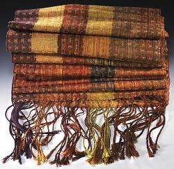24 Harness Pattern Twill Weave Scarf