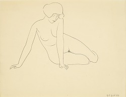 Untitled (seated female figure)
