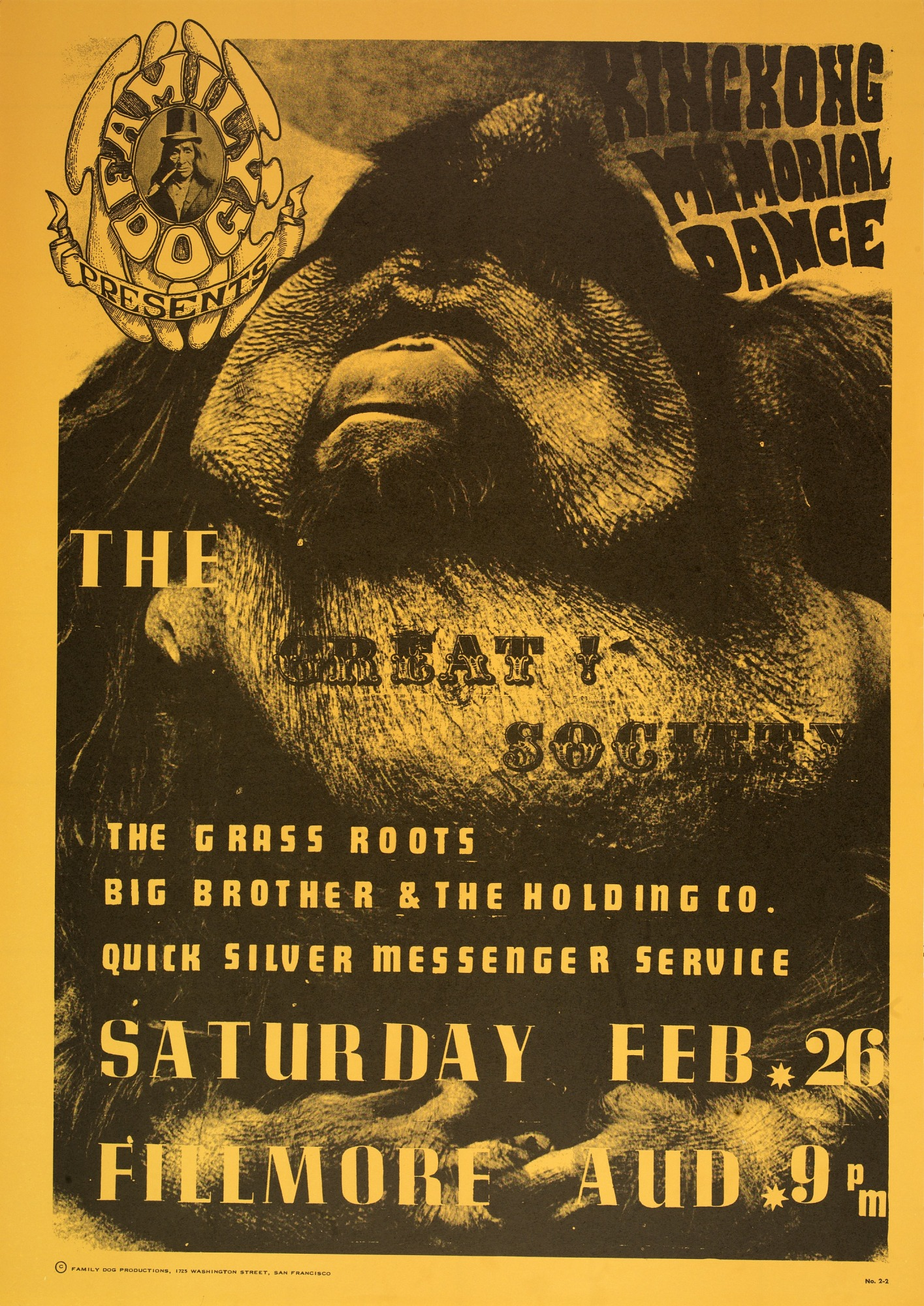 Image for King Kong (The Great Society, The Grass Roots...Fillmore Auditorium, San Francisco, California, 2/26/66)