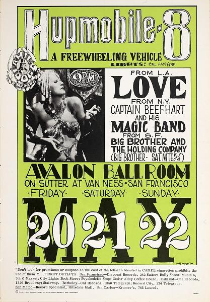 Image for Hupmobile 8 (Love, Captain Beefheart and His Magic Band...Avalon Ballroom, San Francisco, California 5/20/66-5/22/66)